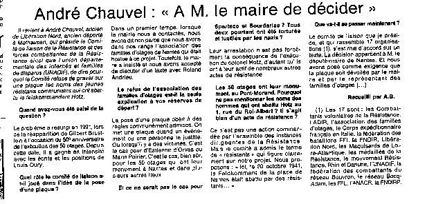 événement ouest france 1999
